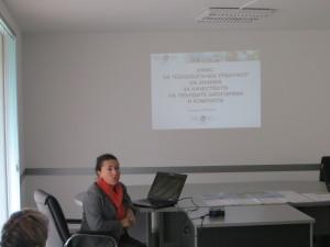 dr. Elka Piskova presenting laboratory for solid biofuels